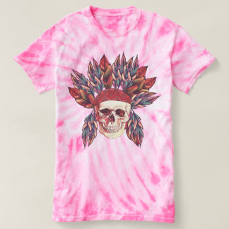 Indian chief skull t-shirt