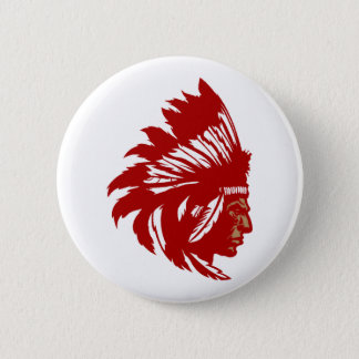 Indian chieftain head native American chief head 2 Inch Round Button