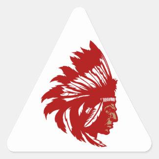 Indian chieftain head native American chief head Triangle Sticker