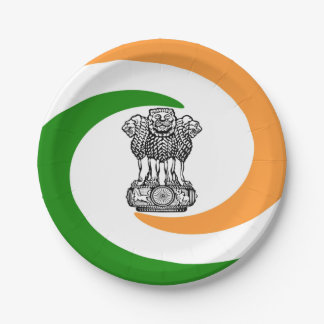 Indian Coat of arms Paper Plate
