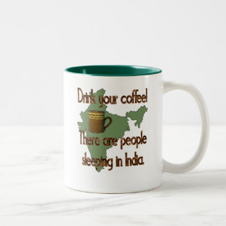 Indian Coffee People Two-Tone Coffee Mug