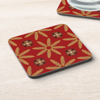 Indian Corn Jingle Bell Pattern Coaster