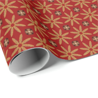 Indian Corn Jingle Bell Pattern Wrapping Paper