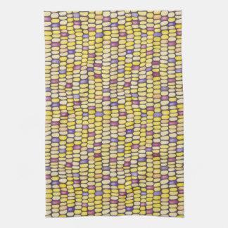 Indian Corn Watercolor Pattern Kitchen Towel