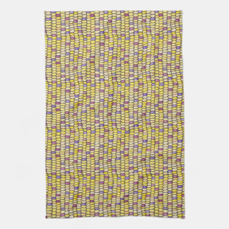 Indian Corn Watercolor Pattern Kitchen Towel