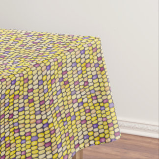 Indian Corn Watercolor Pattern Yellow Tablecloth
