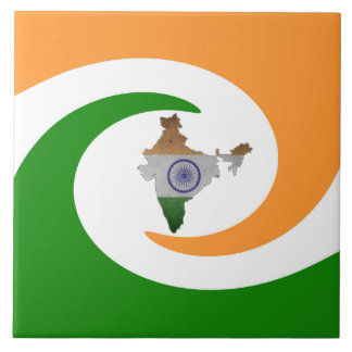 Indian country flag tile