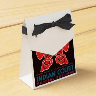 Indian Court, Federal Building Favor Boxes