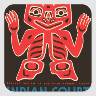 Indian Court, Federal Building Square Sticker