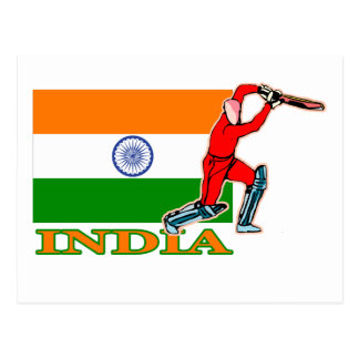 Indian Cricket Player Postcard