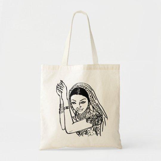 Indian Dancing Woman Tote Bag