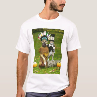 INDIAN DOG & PILGRIM CAT T-Shirt