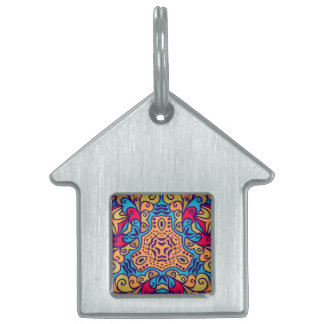 Indian Dream Kaleidoscope Pet ID Tag
