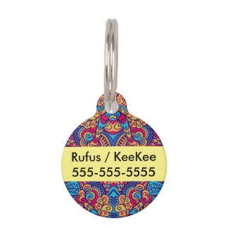 Indian Dream Kaleidoscope Pet Name Tag
