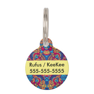 Indian Dream Kaleidoscope Pet Tag