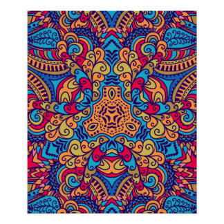 Indian Dream Kaleidoscope Poster