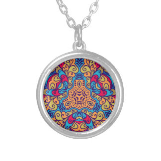 Indian Dream Kaleidoscope Silver Plated Necklace