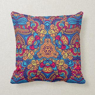 Indian Dream Kaleidoscope Throw Pillow