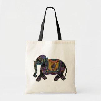 Indian Elephant Art Shirt Tote Bag