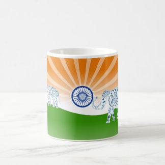 Indian elephant coffee mug