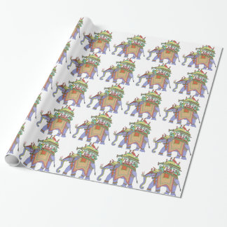 INDIAN ELEPHANT DESIGN WRAPPING PAPER