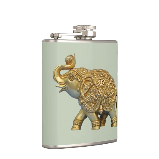 Indian Elephant Hip Flask