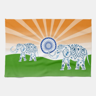 Indian elephant kitchen towel