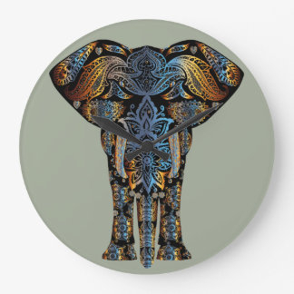 Indian elephant large clock