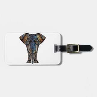 Indian elephant luggage tag