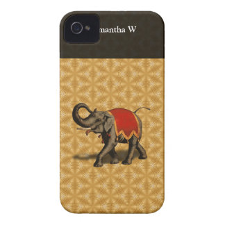 Indian Elephant w/Red Cloth iPhone 4 Case