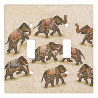 Indian Elephants Animals Light Switch Cover