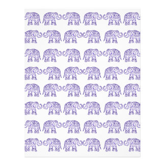 Indian elephants customized letterhead