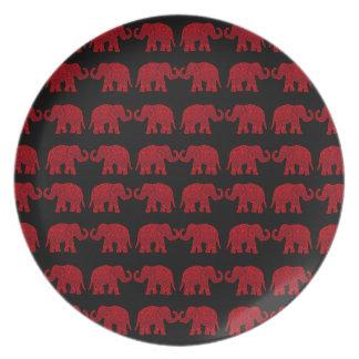Indian elephants dinner plate