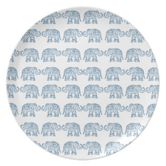 Indian elephants dinner plates