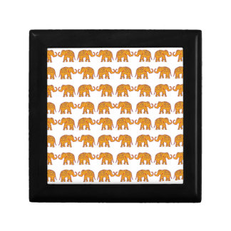 Indian elephants keepsake box