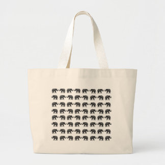 Indian elephants large tote bag
