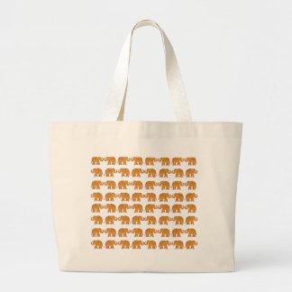 Indian elephants large tote bag