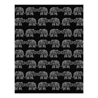 Indian elephants letterhead design