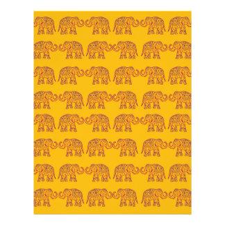 Indian elephants letterhead template