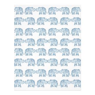 Indian elephants personalized letterhead