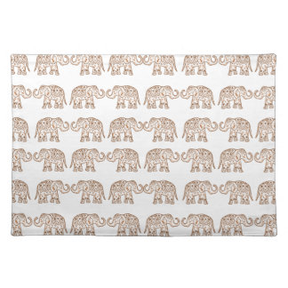 Indian elephants placemat