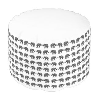 Indian elephants pouf