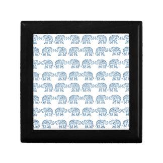 Indian elephants trinket box