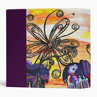 Indian Elephants Vinyl Binders
