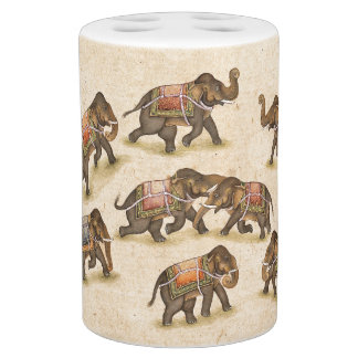 Indian Elephants Wildlife Animals Bath Set