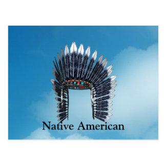 Indian Feathers Bonnet Postcard