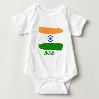 Indian flag designs baby bodysuit