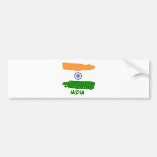Indian flag designs bumper sticker