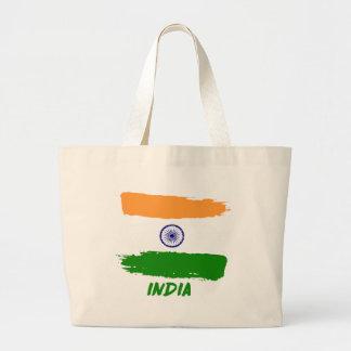Indian flag designs large tote bag