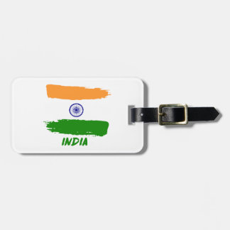 Indian flag designs luggage tag